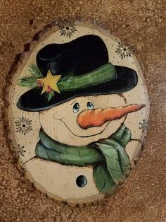 similar to Smiley Snowman on Etsy - Wood slice crafts -Items similar to Smiley Snowman on Etsy - Wood slice crafts - Christmas Wood Crafts, Christmas Rock, Painted Christmas Ornaments, Snowman Crafts, Wood Ornaments, Christmas Signs, Christmas Snowman, Christmas Projects, Holiday Crafts