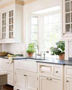 Looks clean. #kitchen #interior #decor by decor