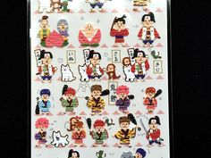 Momotaro the Peach Boy - Traditional Japanese Stickers -S164