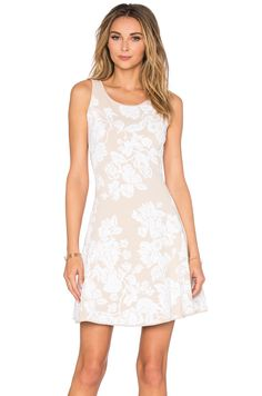 1f6a069a39 Shop for MILLY Floral Fit   Flare Dress in Stone   Ivory at REVOLVE.