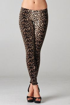 Leopard Print Leggings - Monica's Closet Essentials