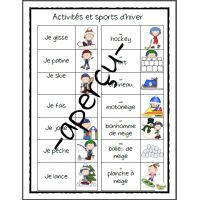 Mots-étiquettes, activités d'hiver (petits) French Language Learning, Education, Vocabulary, Words, Winter, Learn French, Teaching, Onderwijs
