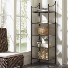 Caldwell Bookcase by Birch Lane Heritage – Metal Shelves, Glass Shelves, Open Shelving, Mirror Shelves, Kitchen Shelves, Kitchen Cabinets, Traditional Bookcases, Traditional Furniture, Antique Mirror Glass