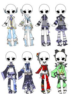 .:Adopted:. Outfit Batch 03 by DevilAdopts.deviantart.com on @DeviantArt