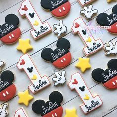 2 or 4 dozen Mickey mouse birthday sugar cookies . Personalized Mickey Mouse… – My WordPress Website Theme Mickey, Minnie Y Mickey Mouse, Bolo Mickey, Mickey Mouse Cookies, Disney Cookies, Mickey Party, Elmo Party, Dinosaur Party, Mickey Cakes