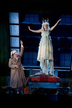 J.C. Cutler as Ebenezer Scrooge and Tracey Maloney as the Ghost of Christmas Past.  Can't wait to see it at the Guthrie Theatre in Minneapolis soon!