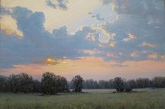 Sunset by Bruce Peil Oil ~ 24 x 36