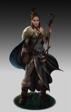 f Wizard Cloak Staff Scrolls Magic Book forest hills mountains rough underdark farmland steppe desert RPG Female Character Portraits Fantasy Heroes, Fantasy Warrior, Fantasy Women, Fantasy Rpg, Medieval Fantasy, Dungeons And Dragons Characters, Dnd Characters, Fantasy Characters, Female Characters