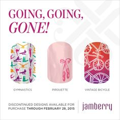 All of these will be available until February 28th, 2015. If you have a favorite stock up, because they are GOING GOING GONE! I love Jamberry!  mother, nails, nail, sister, daughter, wife, spouse, jams, beauty, product, consultant, mommy and me