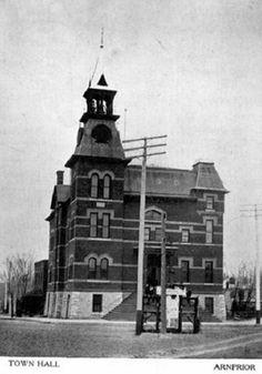 Town Hall,  Arnprior,  Ontario 1910 Ottawa Valley, O Canada, Town Hall, Homeland, Ancestry, San Francisco Ferry, Dna, Ontario, Building