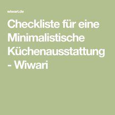 Checkliste für eine Minimalistische Küchenausstattung - Wiwari
