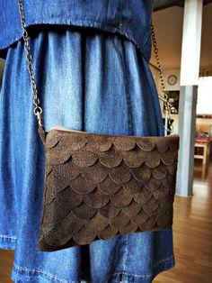 #leatherbag #fishscale #DIY #croby