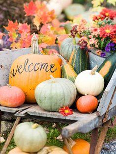 Wheelbarrow Pumpkin Welcoming Display