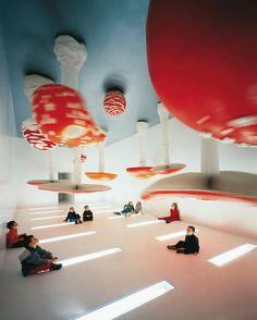 Carsten Höller, Upside Down  Mushroom, installation for  his one-man show at the  Fondazione Prada, 2001.
