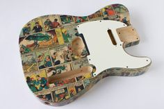 Superman Telecaster Guitar Body Comic Book Tele by Ebeniste