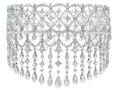 Diamond choker necklace.