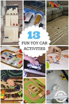 13 Fun Toy Car Activities for Kids from kids activities blog