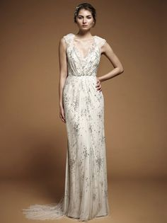 Wedding dresses and bridal wear from Jenny Packham :: Morgan Davies :: Bridal and Wedding Dress Shop London for organic texture look