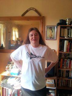 Nicola in Wales wearing a KryKey t-shirt she got from us via DJ Wez G #Pinterest #KryKey