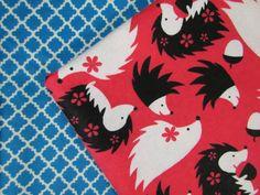 Baby Blanket Handmade Cute Hedgehog Print Blanket Baby Shower Gift Stroller Blanket