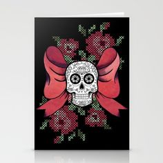Pink Metal 4 Stationery Cards by Cam LE MAC' | Society6