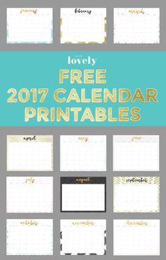 50+ 2017 free printable calendars   The ultimate collection of FREE 2017 free printable calendars for the new year!! Download now!