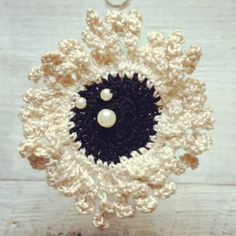Hand crocheted brooch found on my Etsy site. BeadPie!