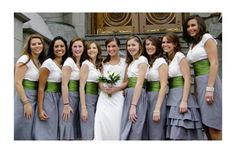 Meegan's Green & Grey Bridesmaids 12.5.09 SLC, UT