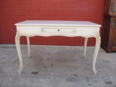 Antique Furniture French Antique Painted Writing Desk Vanity!