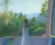 At the Window in Provence - Nicholas Hely Hutchinson