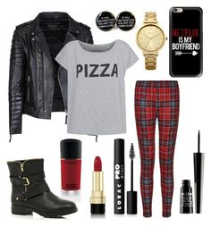 """""""Black&red"""" by slavenka555 ❤ liked on Polyvore featuring Oasis, MAC Cosmetics, Dolce&Gabbana, Lord & Berry, Casetify, River Island and LORAC"""