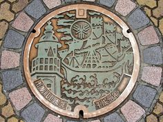 https://flic.kr/p/pffJaA | Sakai Osaka, manhole cover 3 (大阪府堺市のマンホール3)