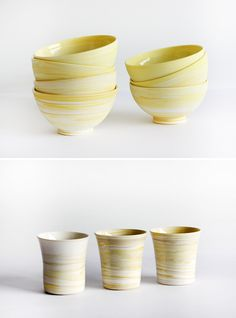 Stunning new vessels by David Pottinger – in YELLOW especially for The Design Files Open House!