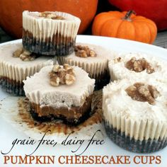 Grain Free, Dairy Free Pumpkin Cheesecake Cups #PrimallyInspired