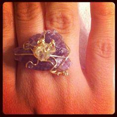 Practice. Amethyst ring.
