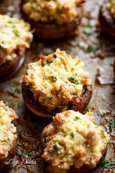 Sausage Cream Cheese Dip Stuffed Mushrooms are the ultimate delicious appetiser for any occasion! Not only are these stuffed mushroom SUPER delicious, this simple recipe makes mushrooms taste so good! Even non-mushroom lovers LOVE these! Juicy and meaty on the outside, while creamy and full of flavour on the inside!