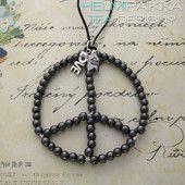 Musta peace- kaulakoru 35€ #peace #rauhanmerkki #peacekaulakoru #rauhanmerkkikaulakoru #peacelove