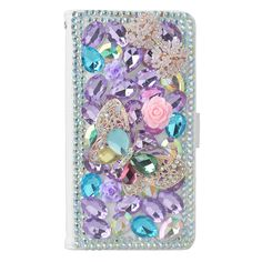 KAKA(TM) Fashion Phone Cover 3D Handmade Irregularity Bling Colorful Crystal Design PU Leather Wallet Case Flower Butterfuly Pattern For Sony Xperia Z1 L39h. Offers good protection against dirt scratches and bumps. Brand new and fashion design,what you get is a protective and stylish case. Nice gift for your friends. Warmly tip:pls take a close look at model and make sure it is fit for your cellphone. 100% 3D handmade coloful sweet bling rhinestone crystal case.