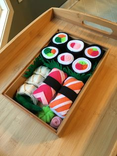 children 39 s play felt food sushi via etsy felt food pinterest filzen. Black Bedroom Furniture Sets. Home Design Ideas