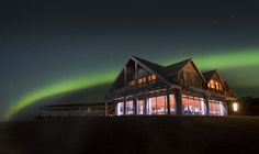 "Hótel Rangá is a countryside hotel built like a luxurious log cabin. It has been named both ""Best Hotel in Iceland"" and ""Best Resort Hotel in Europe"" A major highlight is the three outdoor hot tubs heated with geothermal water."