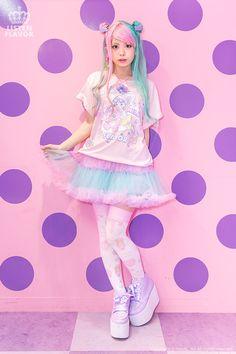 listen-f | Rakuten Global Market: Milkygirlcollabokatsaw ◆ Fancy Surprise! * LISTEN FLAVOR (ritsonflavor) girly pop punk rock Gothic Lolita cute Harajuku system KERA series Zipper system blue character personality school fashion
