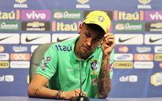 Ontem, Neymar participou da Coletiva de Imprensa