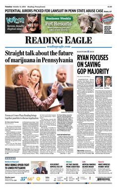 Today's front page. Oct. 11, 2016.