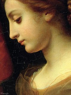 St. Cecilia at the Organ (detail), 1671, by Carlo Dolci (Italian, 1616-1686)