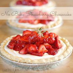 No Bake Cheesecake. Cream cheese, sweetened condensed milk, cool whip. Easy!