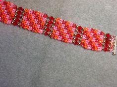 Diagonal Herringbone Bracelet.