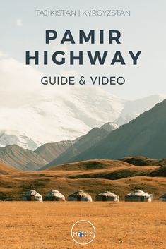 A video & complete guide to The Pamir Highway. See what a journey through remote #Tajikistan & #Kyrgyzstan is really like, complete with soaring snowy peaks, lunar landscapes, sparkling blue lakes & historic sites. Our guide covers everything you need to know to plan your own #Pamir Highway trip, including transport, budget & accommodation advice. We outline the best hikes & side trips in the region, and provide maps & GPS coordinates to help you find the best off-beat spots @goingthewholehogg