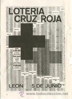 Página de publicidad Original del Sorteo de *Lotería Cruz Roja - León 5 de junio de 1965* - Año 1965