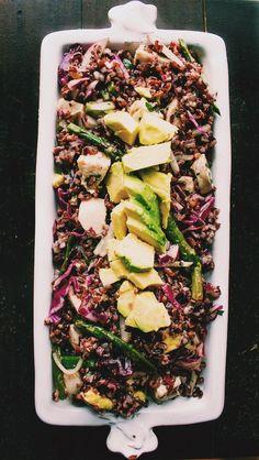 Black Rice Salad with Spring Vegetables & Avocado