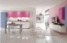 Rosa Küche von Gruppoeuromobil / pink kitchen by Gruppoeuromobil